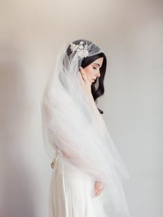 NEW-Bridal veil- Juliet cap veil-beaded lace applique-wedding veil-fingertip veil-lace veil-beaded veil- style 101 Wedding Veils, Wedding Dresses, Bridal Veils, Hair Wedding, Bridal Hair, Juliet Cap Veil, Fingertip Veil, Dress Plus Size, Up Dos