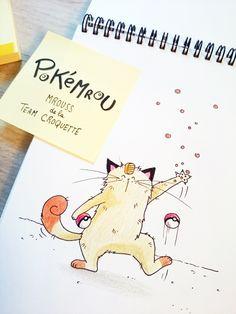 Et voici un croquis de Miaouss de la team rocket version Mrou le chat ! #PokemonGo #neko #meowth #sketch of #cat Pokemon Go, Team Rocket, Neko, Photo Chat, Illustrations, Crazy Cats, Cats And Kittens, Cat Lovers, Place Cards