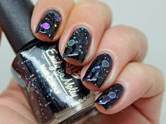 Nail polish  Dark Forces holographic silver dot by EmilydeMolly, $9.50