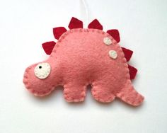 Felt animals Dinosaur ornament kids room ideas by grabacoffee