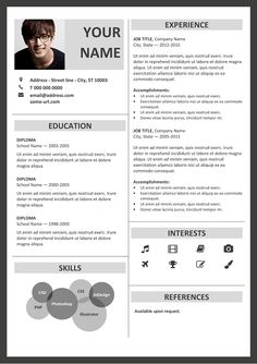 Resume On Microsoft Word Vesterbro  Free Nature Resume Template For Microsoft Word