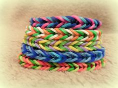 Fishtail Bracelet  Choose Your Colors by FuzzlesBandStand on Etsy