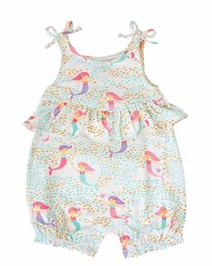 40908d59449 Bamboo bubble features all-over mermaid print with gold glitter detail