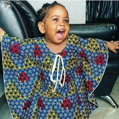 kids in print See Her Unique Ankara Style - Reny styles Ankara Styles For Kids, Unique Ankara Styles, African Dresses For Kids, African Children, African Babies, African Print Dresses, African Fashion Dresses, African Outfits, Ankara Fashion