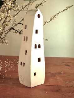 handmade ceramic lantern house with the by TalkingPotsLab on Etsy, €25.00