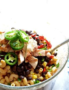 Creamy Chicken Enchilada Pasta Salad @stephiecooks and @sarcasticcook