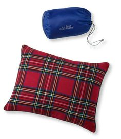 Flannel Camp Pillow: Camping Pillows and Bag Liners   Free Shipping at L.L.Bean