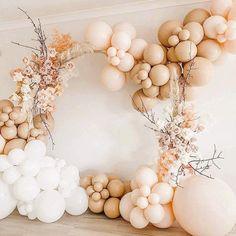 Bridal Shower Balloons, Wedding Balloons, Metallic Balloons, White Balloons, Birthday Balloon Decorations, Baby Shower Decorations, Balloon Birthday, Balloon Design For Birthday, Baby Kate