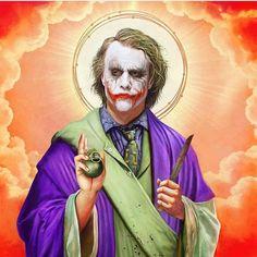 Artist Reimagines Pop-Culture Characters As Religious Figures - Page 4 of 9 Mia Wallace, Pulp Fiction, Heath Ledger Joker, Photos Joker, Joker Pictures, Art Du Joker, Batman Figura, Fotos Do Joker, Jokers Wild