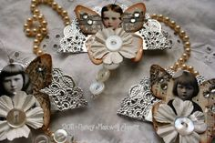 12 Days of Whimsy - Button Faeries  By ~*<3Nancy Maxwell James<3*~  Paper Whimsy