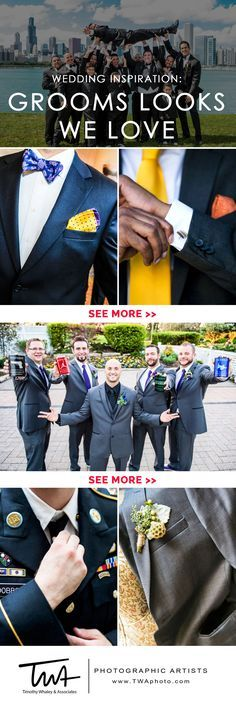 From cuff links to Converse, our groom's get it right.  The groom is more than just an accessory to the day and these looks we love cover it all and showcase some of our absolute favorites.