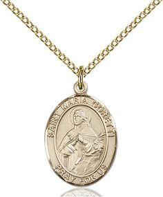 St. Maria Goretti Pendant (Gold Filled) by Bliss | Catholic Shopping .com