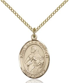 St. Maria Goretti Pendant (Gold Filled) by Bliss | Catholic Shopping .com