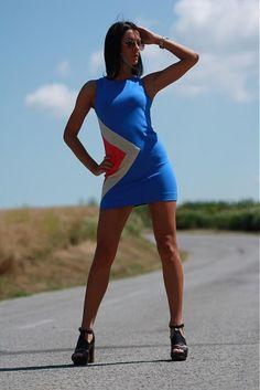 veronikaIN_FASHION / Modré šaty s aplikáciou_2013