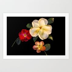 Real Fake Flowers Art Print by Jinzha Bloodrose - $17.68