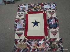 Quilt for a dear high school friend whose Marine daughter was badly injured in Afghanistan. She recovered and made it home <3