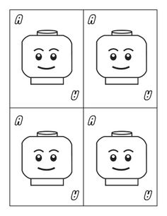 Page of large Ace playing cards. Part the printable and colorable large Lego themed playing cards.