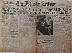 The Johnstown Tribune - World War II: July 6, 1943: SEA BATTLE RAGES IN KULA GULF OFF NE...