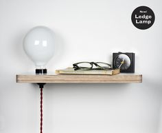 LEDGE LAMP BY STEFI ORAZI STUDIO Picture Ledge, Picture Frames, Industrial Furniture, Wood Furniture, Small Places, Hacks Diy, Home Lighting, Perfect Place, Floating Shelves