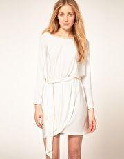 Halston Heritage Sash Dress