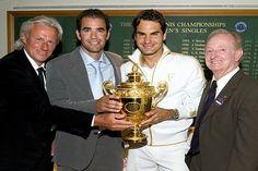 Talk about tennis LEGENDS! Borg, Sampras, Federer and Laver