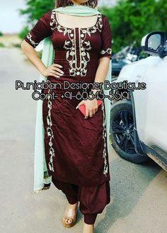 Shop salwar suits online for ladies from BIBA, W & more. Explore a range of anarkali, punjabi suits for party or for work. Punjabi Suit Boutique, Punjabi Suits Designer Boutique, Designer Suits Online, Boutique Suits, Indian Designer Suits, Indian Suits, Indian Wear, Salwar Designs, Punjabi Suit Neck Designs