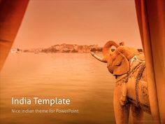 If you are looking for India PowerPoint template, then this template is perfect for you! Having warm orange background this template is perfect for tourism and vacation presentations. Creative Powerpoint Templates, Orange Background, Dream Cars, Camel, Tourism, Colours, India, Plants, Projects