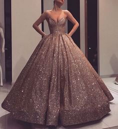 Glitter Quinceanera Dresses 2019 Modest Sweet 16 Ball Gown Pleats Sweet-heart Zipper Back Prom Gowns Birthday Party Vestidos De 15 Formal Evening Dresses, Elegant Dresses, Pretty Dresses, Evening Gowns, Formal Prom, Formal Wedding, Quinceanera Dresses, Prom Dresses, Chiffon Dresses