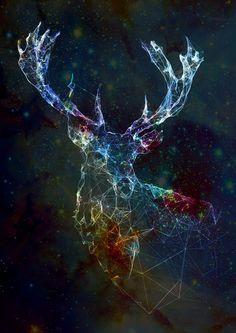 deer constellation } art } galaxy } stars