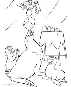 free circus coloring pages