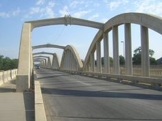 Eight-span rainbow arch bridge over the Arkansas River on S. Broadway (Southbound) in Wichita Arch Bridge, Bridges, Broadway, River, Rivers