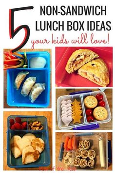 Have a picky eater who doesn't like sandwiches? Check out these healthy, kid-approved, no-sandwich lunch box ideas that are sure to be a hit! Pack lunches for school that your kids will love! I would never have thought of the 4th idea--so cool!