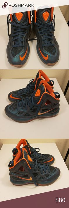 8695e9e2f94d Shop Men s Nike Blue Orange size Athletic Shoes at a discounted price at  Poshmark. Description  Nike Air Zoom Hyperposite Space Blue Peach Cream