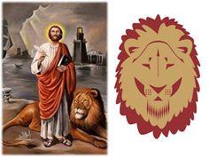 ORACIONES PODEROSAS : ORACION A SAN MARCOS DE LEON PARA AMANSAR Y CAMBIAR SENTIMIENTOS Lion Sculpture, Angel, Statue, Quotes, Babydoll Sheep, Christ, Prayer For Work, Prayer For Love, Short Devotions