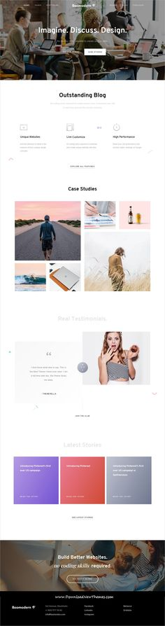 Boo is clean and modern design responsive multipurpose bootstrap #HTML #template for creative #studio website with 15 niche homepage layouts to live preview & download click on image or Visit  #webdeveloper