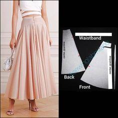 Skirt Patterns Sewing, Pattern Skirt, Draped Skirt, Fashion Sewing, Asymmetrical Dress, Vintage Skirt, Swing Dress, Pattern Fashion, Foto E Video