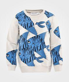 Fishes Aop Sweatshirt Blue ss-15