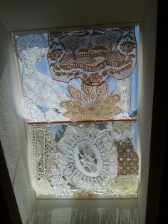 Doily skylight curtain More