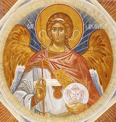 Fresco of Archangel Michael #icône
