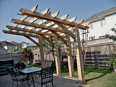 Cantilever pergola, useful design to build over an existing deck