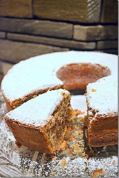 Carrot and Walnut Coffee Cake Greek Sweets, Greek Desserts, No Cook Desserts, Cake Bars, Pie Cake, Sweet Recipes, Cake Recipes, Dessert Recipes, Dessert Ideas