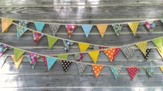 Fabric Bunting Flag Banner Garland Bunting Photo by KnitCraftSew, $30.00