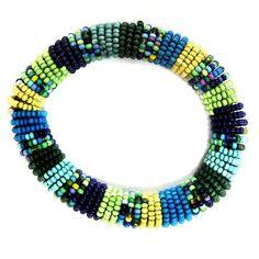 Gypsy Soule Pastel & Blue Stretch Beaded Bracelet DB514A