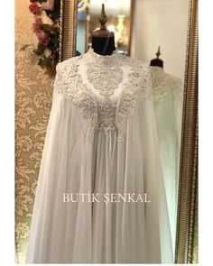 You will find different rumors about the real history of the marriage dress; Wedding Abaya, Muslim Wedding Gown, Muslimah Wedding Dress, Hijab Bride, Wedding Bride, Wedding Gowns, Modest Dresses, Bridal Dresses, Flower Girl Dresses