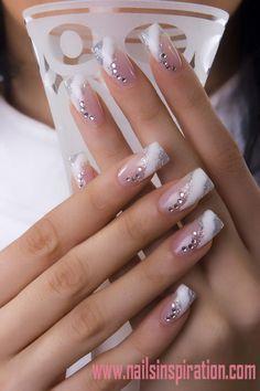 Wedding 3d nail designs http://www.nailsinspiration.com Nails Inspiration | 10 Cute 3d Nail Designs | Acrylic Flower 3d Nail Art