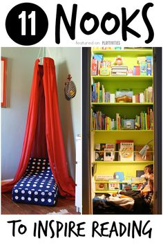 Diy reading nook ideas for kids - playtivities Design Seeds, Backyard For Kids, Diy For Kids, Boy Room, Kids Room, Reading Nook Kids, Ikea, Cozy Nook, Kid Spaces