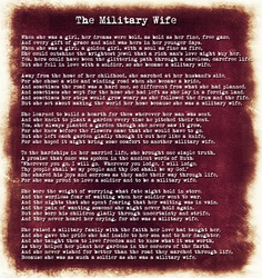 """The Real Life of a Military Wife: """"The Military Wife"""" Poem"""