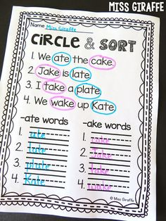 Long a word family activities and first grade worksheets – soo many ideas on this page for grade reading and math! Word Family Activities, Fluency Activities, First Grade Activities, Teaching First Grade, First Grade Classroom, 1st Grade Crafts, English Activities, Reading Activities, Teaching Art