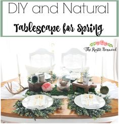 diy, natural spring tablescape | the rustic boxwood | diy