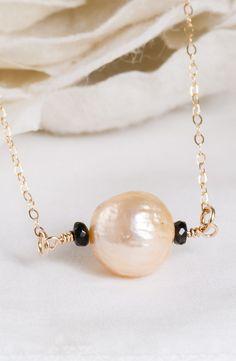 Liquid Gold – Kasumi Like Baroque Ripple Pearl Necklace